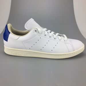 NEW Adidas Originals Stan Smith LEATHER White Blue